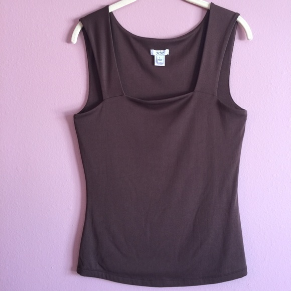 f2d6030997822e Cache Tops - Cache Brown Tank Top